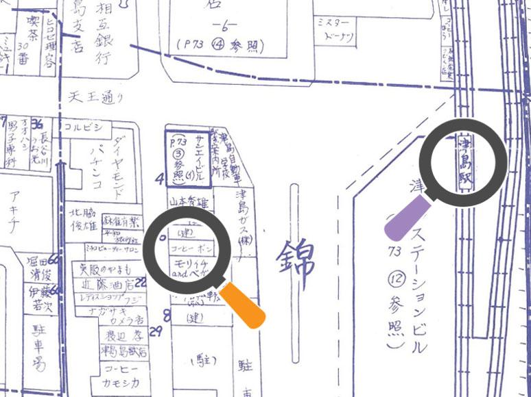 昭和53年・津島駅周辺の住宅地図