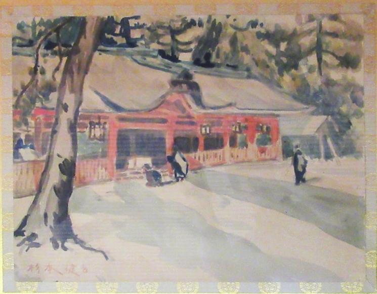13才の杉本画伯が描いた「津島神社」