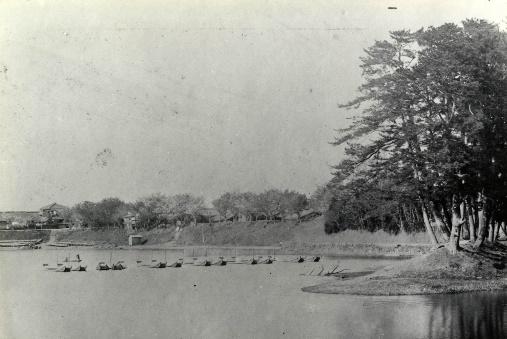 天王川公園猿尾と北堤(明治後期)