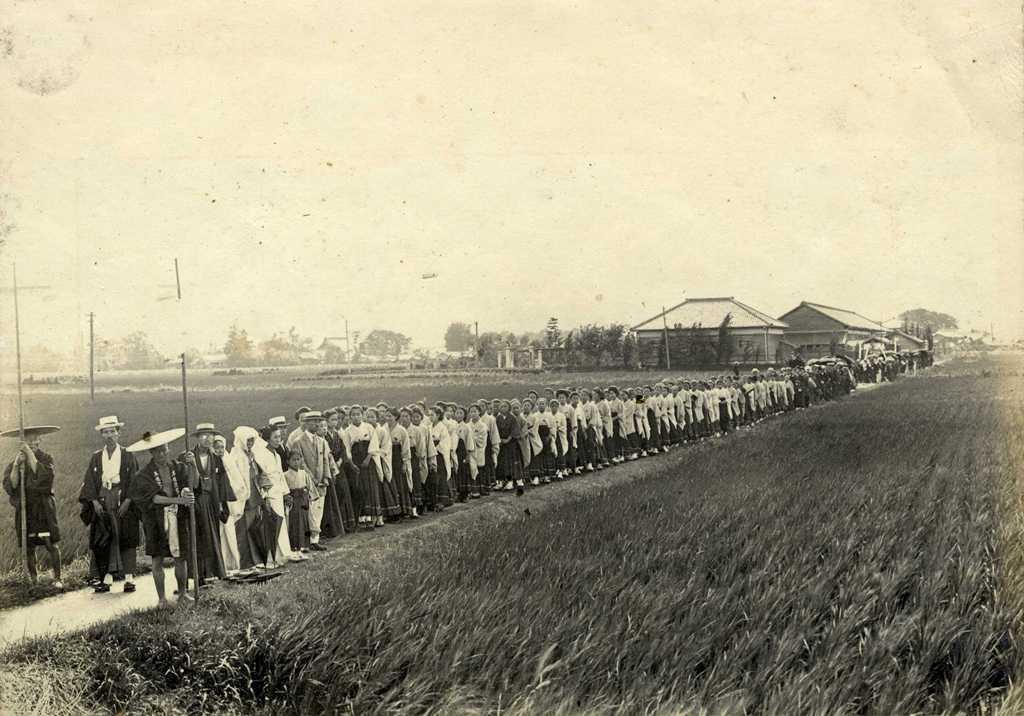 津島高等女学校の歴史写真 佐藤新兵衛先生の葬儀