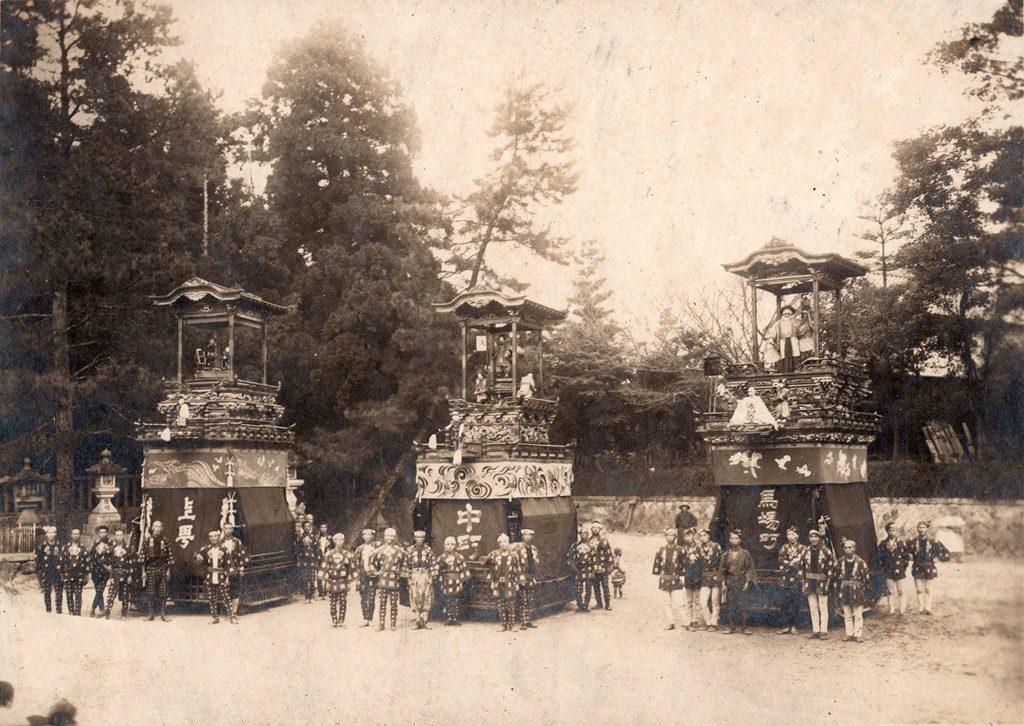 津島の風景 祭の風景 秋祭山車 向島の山車
