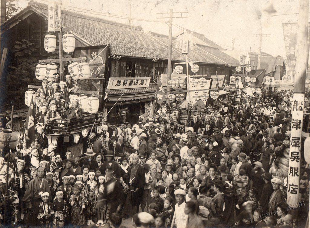 津島の風景 祭の風景 石採祭車