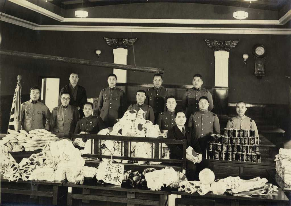 戦時下の風景 応召兵 帝国在郷軍人会津島支部