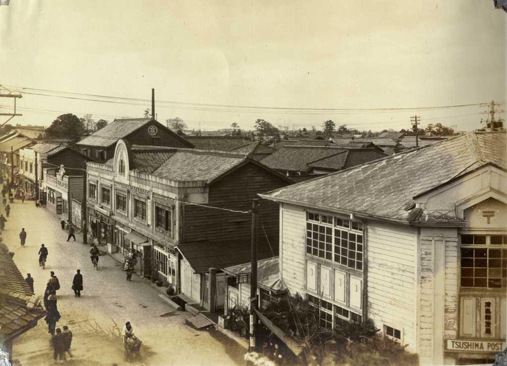 天王通りの風景 天王通り 津島郵便局付近 津島バザーからの撮影