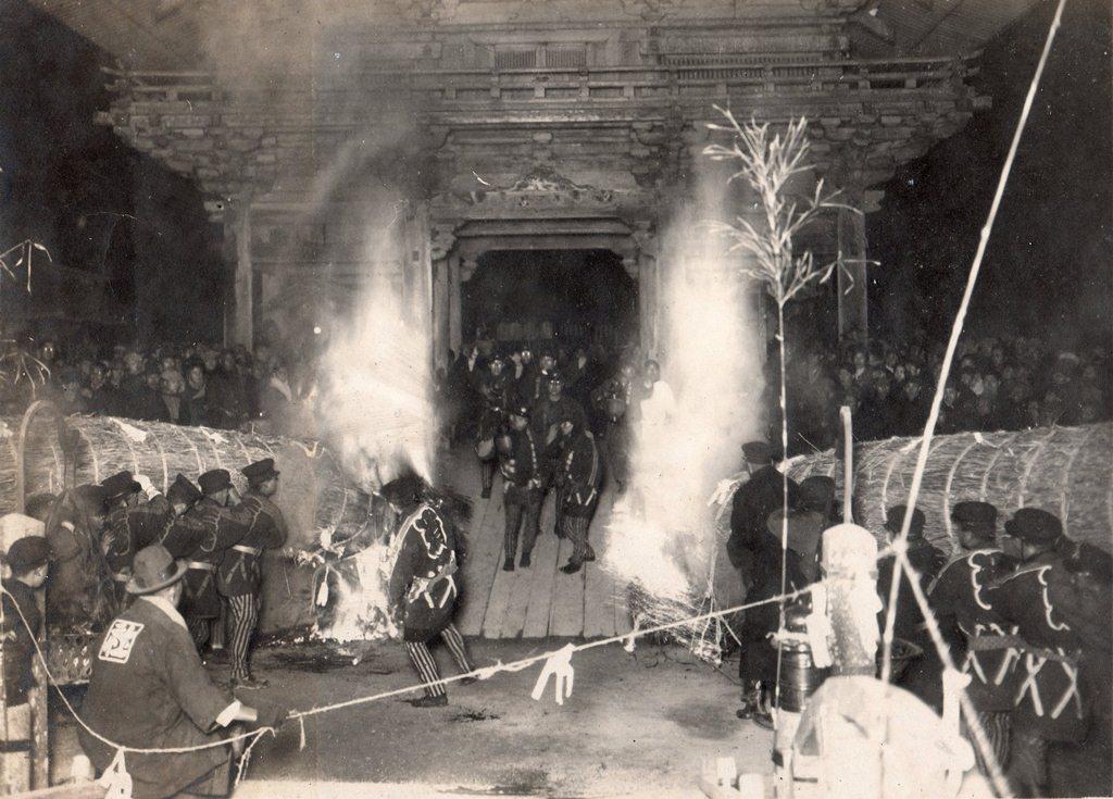 津島神社の祭礼 昭和初期 津島神社の開扉祭