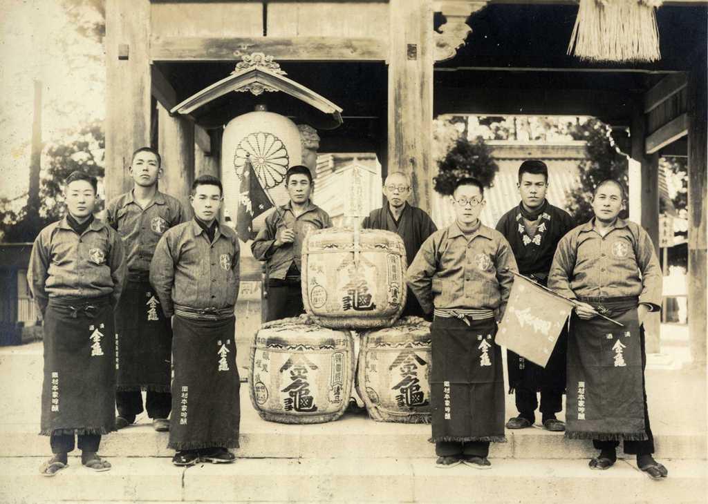津島神社への奉納 金亀会の津島神社奉納