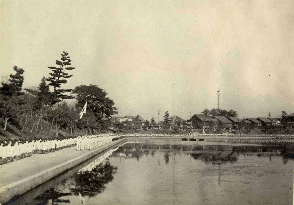 昭和初期 御旅所付近 天王川北堤遠景