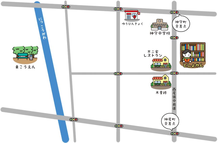神守分室の地図